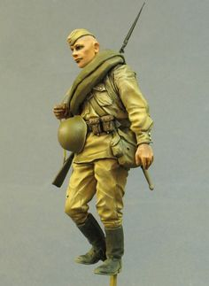 Canteen w// Pouch 1//6 Scale Red Army Scout Toys City Action Figures