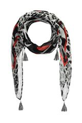 #Expresso - sjaal met tekst- en panterprint #panterprint #luipaardprint #leopardprint #fall16 #winter17 #fashion #trends