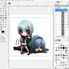 GIMP is a very well rounded and popular free drawing software that can edit, draw, paint, and manipulate raster type images.