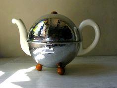 german art deco insulated teapot - wmf bauscher weiner circa 1930s