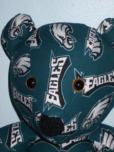 Teddy Bear Eagles Philidelphia Football NFL Gold Eyes by DoOver, $35.00