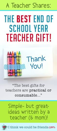 "Looking for the perfect gift to say ""thank you"" to your child's teacher? You'll LOVE these ideas! (no crafting supplies required ;) #teacher #gift #ideas"