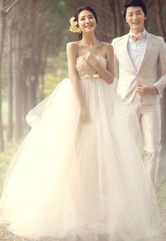 Strapless Sash A Line Wedding Dress Love them for being Asian