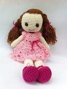 Pattern Crochet Doll Amigurumi Ruby cute and sweet by LilyLove1412