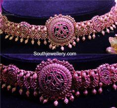 Antique Gold Peacock Waist Belt