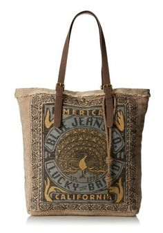 "Lucky Brand California Travel Tote. 100% canvas with polyester lining & magnetic closure.13"" shoulder drop. Double handle. #travel http://thecaffeinateddaytripper.com/2014/09/12/travel-accessories-like-paris-are-always-a-good-idea/"