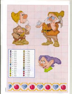 Borduurpatroon: Disney Allerlei *Cross Stitch Pattern Disney Various ~7 Dwergen Serie 2: 3/5~