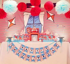 Cat in the Hat Party via Kara's Party Ideas | Kara'sPartyIdeas.com #CatInTheHat #Birthday #Party #Idea #Supplies #DrSeuss (11)
