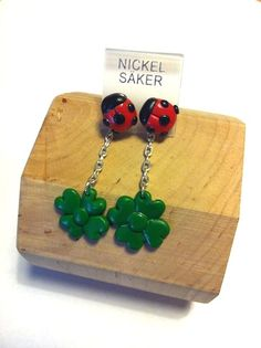 "Earrings ""Ladybird"" http://melylefay.wix.com/avaloncreations"