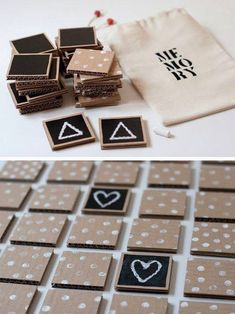 Do it yourself: craft a wooden letterboard in a scandi look - # milk cartons . - Do it yourself: craft a wooden letterboard in a scandi look – # Milchtütenupcycling - Kids Crafts, Diy And Crafts, Cool Diy, Memory Crafts, Cardboard Crafts, Cardboard Boxes, Diy Games, Wood Toys, Diy Toys