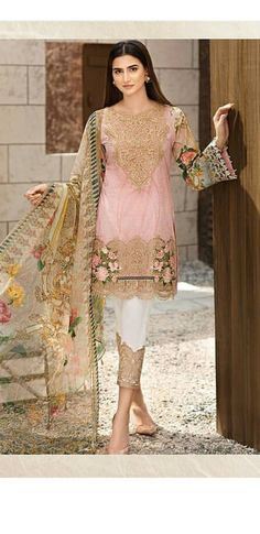 This outfit from Festive Lawn 'Pétal De Rosé' is pink perfection 😍 Pre booking has started to grab it at www. Pakistani Frocks, Pakistani Dresses Online, Pakistani Couture, Pakistani Bridal Wear, Pakistani Outfits, Indian Outfits, Indian Bridal, Pakistani Fashion Casual, Bollywood Fashion