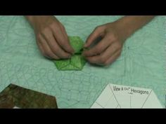 How to make origami hexagons out of fabric using the View & Do Hexagon precut shapes - can use to make a purse or quilt