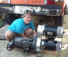 Otmar Ebenhoech installing DC motors in Porsche 914 conversion