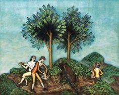 Antonín Procházka - obraz Horský pramen (1925) - olej na plátně, 80 x 100 cm Cubism, Painting, Art, Pictures, Art Background, Painting Art, Kunst, Paintings, Performing Arts