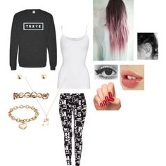"""Chilling at home with friends"" by johanna-kat on Polyvore"