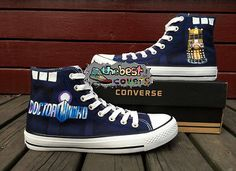 CONVERSE All Star DOCTOR WHO science-fiction hand painted shoes zapatos scarpe