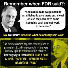 FDR's minimum wage / a living wage