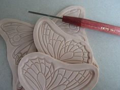 ARTBYLILIN Polymer Clay Creations: Art Nouveau Butterfly..cool technique!!