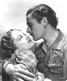 Errol Flynn & Olivia de Havilland in Dodge City