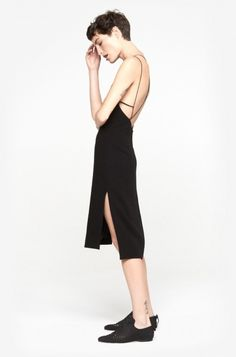 Division Dress - Rag & Bone Simple Black Cami Dress, perfect for dinners and lunches. Looks Style, Style Me, Schneider, Minimal Chic, Fashion Moda, Minimalist Fashion, Editorial Fashion, Personal Style, Fashion Photography