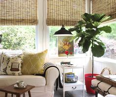 In the Press: Design Indulgence blogger hangs the Baltimore corded pendant in a sunroom.