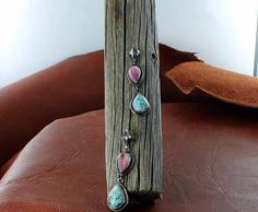 #8 TURQUOISE and LAVENDER SPINY OYSTER TEARDROP EARRINGS