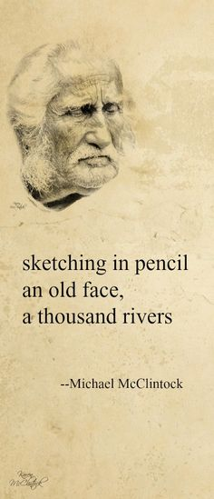 Haiku poem: sketching in pencil -- by Michael McClintock.