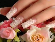 Today we are sharing most beautiful nail art designs with you. These are so Beautiful Nail Art Design For Girls. 3d Flower Nails, Rose Nails, 3d Nails, Pastel Nails, Acrylic Nails, Wedding Manicure, Wedding Nails Design, Bridal Nails, 3d Nail Art