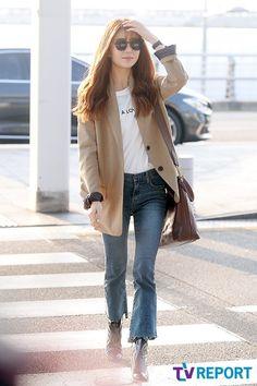 baek jin hee Airport Style, Airport Outfits, Airport Fashion, Korean Actresses, Actors & Actresses, Baek Jin Hee, Ha Ji Won, Jessica Jung, Short Legs