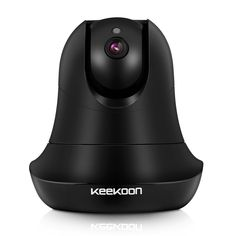 KEEKOON 1080P Wifi Camera Wireless Camera IP Camera Network Security Camera Black