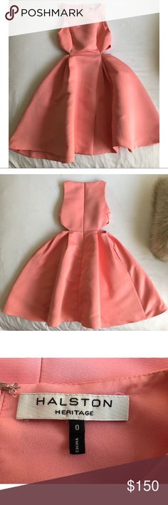 Halston Heritage Pink Frost Dress (Size 0) Cute and fun dress that's great for weddings, brunches and church. Normal wear but in great condition. Will need to be dry cleaned.  Open to realistic offers. Halston Heritage Dresses