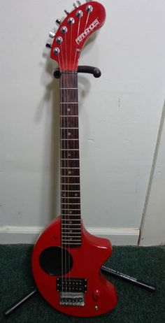 Fernandes Nomad Electric Travel Guitar with Built in Amplifier and Speaker Red