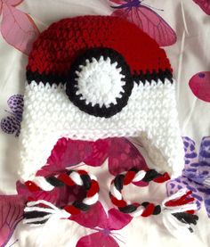 Available to buy from my Etsy shop https://www.etsy.com/uk/listing/455341508/hand-crocheted-red-and-white-beanie