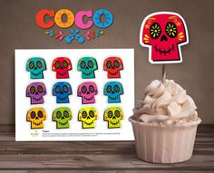 Coco cupcake toppers INSTANT DOWNLOAD pdf coco printable coco