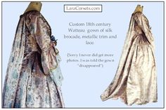 18th century Watteau gown by LaraCorsets