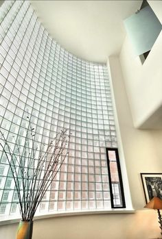 Curved Glass Block Wall Andrew Rebori House Art Moderne Chicago IL