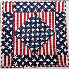QUILTED PATRIOTIC Stars Stripes For Sale table runner or wall