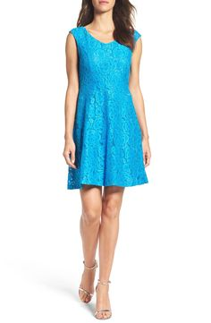 Main Image - Ellen Tracy Lace Fit & Flare Dress