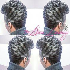 The Diva Lounge Hair Salon Larnetta Moncrief Montgomery, Alabama Short Sassy Hair, Short Grey Hair, Short Black Hairstyles, Short Hair Cuts, Girl Hairstyles, Gray Hair, Love Hair, Gorgeous Hair, Curly Hair Styles