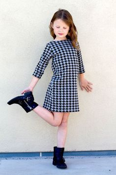 The Anywhere Dress - beginner knit sewing pattern for girls by Go To Patterns   Go To Patterns