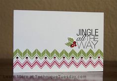 Jingle All The Way Chevrons Card