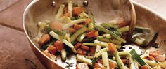 A Betty Crocker cookbook shares a  recipe packed with vitamin A!  Fresh veggies get steamed, stirred and mixed with fresh herbs.