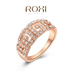 ROXI Christmas gift Classic luxury rings,top quality make with genuine SWR crystal, 100% hand made fashion jewelry,2010015355 US $2.99