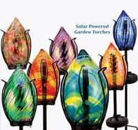 Solar Powered Garden Torches - Assorted Colors