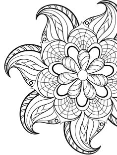 Adult Coloring Pages Flowers 2 2 Adult Coloring Pages