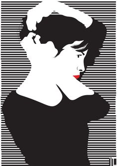 #ilartegrafica #ivanlitenskiartista #ilustracao #ilustracaodigital #illustration #illustrator #minimal #minimalista #minimalart #minimalillustration #ameliepoulain #audreytautou