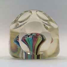 Vintage Murano Faceted Millefiori Mushroom Bouquet Art Glass Paperweight