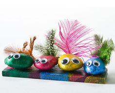 Decoupage - Mod Podge Rock Birds for Earth Day