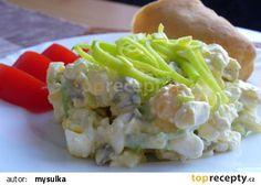 Vajíčkový salát s cottage sýrem recept - TopRecepty.cz