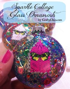 Watch the video below and see how you can win this set of four ornaments I made! Last week I was at my friend Alexa's house to guess what? CRAFT!